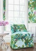 Thibaut Central Park Fabric in Navy and Pink